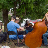 Jam in the Stickerville campground at Weiser 2017 - photo © Tara Linhardt