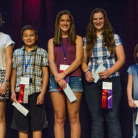 Under 18 Swing Fiddle winners at Weiser 2017 - photo © Tara Linhardt