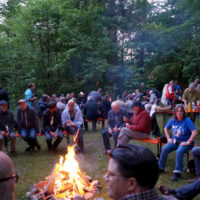 Campfire time at Bluegrass Camp Germany 2017