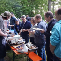 Chow time at Bluegrass Camp Germany 2017