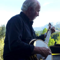 Greg Cahill enjoys the mountains at Bluegrass Camp Germany 2017