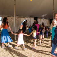 Americana Family Jamboree entertains and leads dances in the Family Tent at Grey Fox 2017 - photo © Tara Linhardt