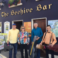 At The Bee Hive where the band stayed in Donegal