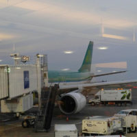 Boarding the plane in Raleigh, heading for Ireland - photo by Lorraine Jordan