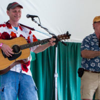 Dave Rimelis and Lou Gelfond entertain in the Family Tent at Grey Fox 2017 - photo © Tara Linhardt
