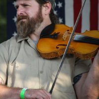 Ben Townsend with The Hillbilly Gypsies at the 2017 Remington Ryde Bluegrass Festival - photo by Frank Baker
