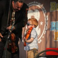 Warren Blair and Bodie Frankhouser with Remington Ryde at the 2017 Remington Ryde Bluegrass Festival - photo by Frank Baker