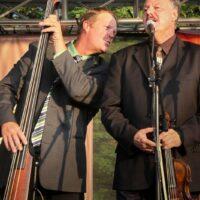 Richard Egolf and Warren Blair with Remington Ryde at the 2017 Remington Ryde Bluegrass Festival - photo by Frank Baker