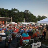 Military veterans being honored at the 2017 Remington Ryde Bluegrass Festival - photo by Frank Baker