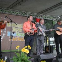 Feller & Hill and the Bluegrass Buckaroos at the 2017 Remington Ryde Bluegrass Festival - photo by Frank Baker