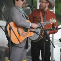 Ralph Stanley II and Alex Leach at the 2017 Remington Ryde Bluegrass Festival - photo by Frank Baker