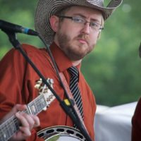 Alex Leach with The Clinch Mountain Boys at the 2017 Remington Ryde Bluegrass Festival - photo by Frank Baker