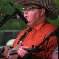 John Rigsby with The Clinch Mountain Boys at the 2017 Remington Ryde Bluegrass Festival - photo by Frank Baker