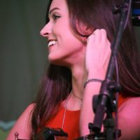 Charli Roberston with Flatt Lonesome at the 2017 Remington Ryde Bluegrass Festival - photo by Frank Baker
