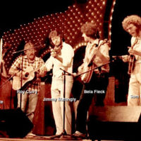 Luren White plays at Opryland with Sam Bush and Béla Fleck