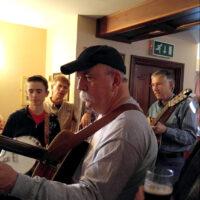 Garrett Newton Band playing at The Bee Hive in Ireland - photo by Lorraine Jordan