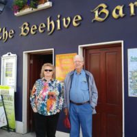 Pat of The Bee Hive where the band stayed in Donegal