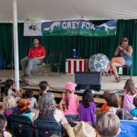 The Chicken Pot Pirates amuse kids in the Family Tent at Grey Fox 2017 - photo © Tara Linhardt