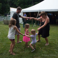 Family dance time at Red Wiing Roots 2017 - photo © Gina Elliott Proulx