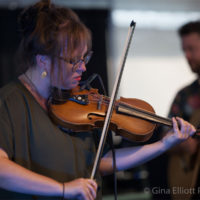 Lyndsay Pruett with the John Stickley Trio at Red Wiing Roots 2017 - photo © Gina Elliott Proulx