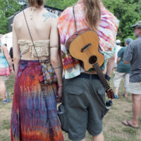 RachelTie dye is de rigueur at Red Wiing Roots 2017 - photo © Gina Elliott Proulx