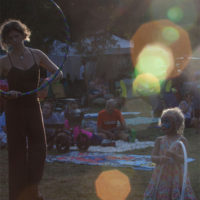 Hooping at Red Wiing Roots 2017 - photo © Gina Elliott Proulx