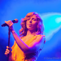Rachel Price with Lake Street Dive at Red Wiing Roots 2017 - photo © Gina Elliott Proulx