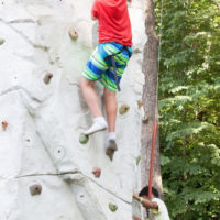 Rock climbing at Red Wiing Roots 2017 - photo © Gina Elliott Proulx