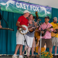 Bluegrass Karaoke band at Grey Fox 2017 - photo © Tara Linhardt