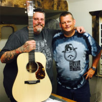 Tony Wray with Richie Crowder and his Damascus Road guitar