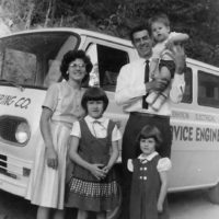 Ralph Lewis with his family, November 1963