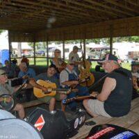 Pre-festival jam at the 2017 Milan Bluegrass Festival - photo © Bill Warren