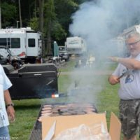 Grillin' burgers at the 2017 Milan Bluegrass Festival - photo © Bill Warren