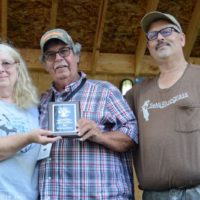 Pam and Bill Warren are inducted into the SMBMA Hall of Honor at the 2017 Milan Bluegrass Festival