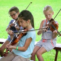 Kids Academy at the August 2017 Gettysburg Bluegrass Festival - photo by Frank Baker