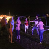 Hooping it up at the August 2017 Gettysburg Bluegras Festival - photo by Frank Baker