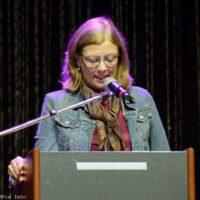 Nancy McFarlane, Mayor of Raleigh, speaks at the 2017 World of Bluegrass in Raleigh, NC - photo © Bill Warren