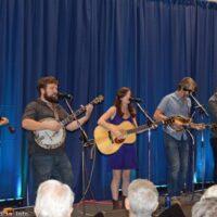 Railsplitters showcasing at the 2017 World of Bluegrass in Raleigh, NC - photo © Bill Warren