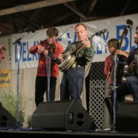 Mark Delaney sitting in on banjo with Charm City Junction at the 2017 Delaware Valley Bluegrass Festival - photo by Frank Baker