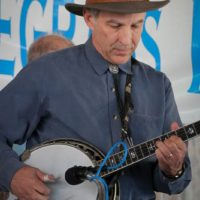 Bob Amos at the 2017 Delaware Valley Bluegrass Festival - photo by Frank Baker