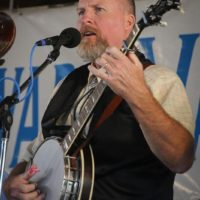 John Treadway with Big Country Bluegrass at the 2017 Delaware Valley Bluegrass Festival - photo by Frank Baker