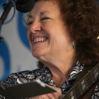 Teresa Sells with Big Country Bluegrass at the 2017 Delaware Valley Bluegrass Festival - photo by Frank Baker