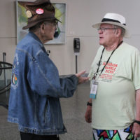 Carl Pagter and Bill Knowlton at the 2017 IBMA World Of Bluegrass in Raleigh - photo by Frank Baker