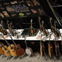 Saga booth at the 2017 IBMA World Of Bluegrass in Raleigh - photo by Frank Baker