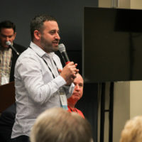 Dan Boner at the 2017 Town Hall Meeting in Raleigh - photo by Frank Baker