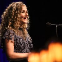 Co-host Abigail Washburn at the 2017 IBMA Awards - photo by Frank Baker