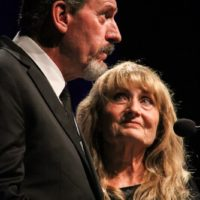 Buddy Dickens and Alice Gerrard at the 2017 IBMA Awards - photo by Frank Baker