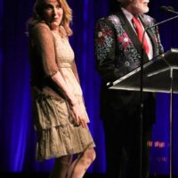 Claire Lynch and Doyle Lawson at the 2017 IBMA Awards - photo by Frank Baker