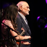 Sierra Hull and Sonny Osborne at the 2017 IBMA Awards - photo by Frank Baker