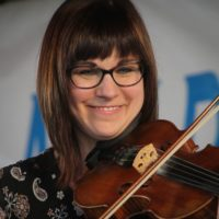 April Verch at the 2017 Delaware Valley Bluegrass Festival - photo by Frank Baker